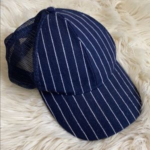 Cotton on blue striped hat